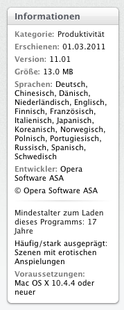info on Opera