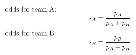 formula for respective odds